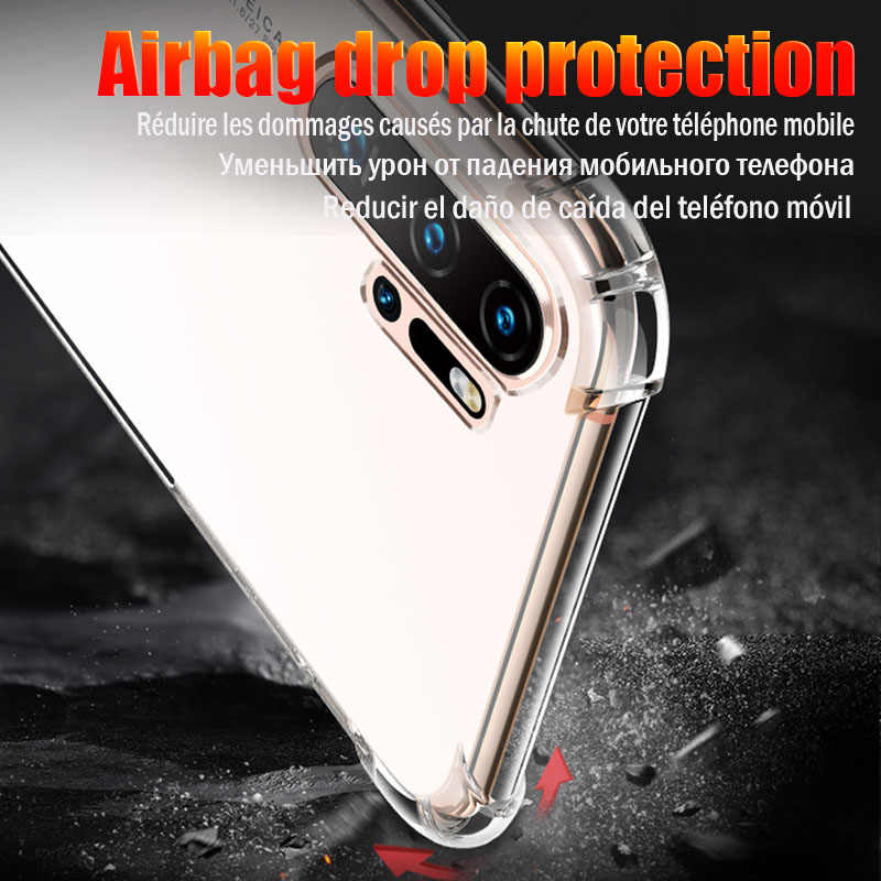 Luxury Shockproof Soft TPU Phone Case For Huawei P20 Lite P30 Pro Protective Cover For Huawei P20 Mate 20 10 Lite P Smart 2019
