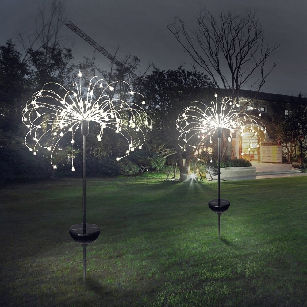 New Garden Solar Firework Light With 8 Lighting Modes String Outdoor Patio Pathway Decor Lights Christmas Lawn Decoration Light