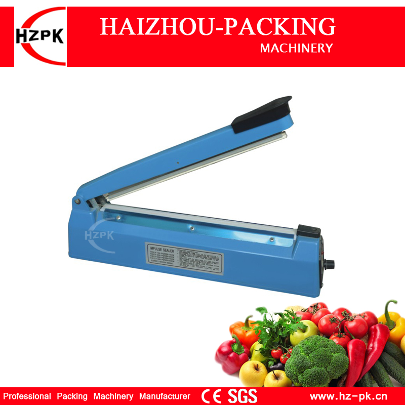 все цены на HZPK Hot Selling Simple Hand Pressure Heat Impulse Sealer Plastic Body Manual Sealing Machine For Fruit Saver 300mm PFS-300 онлайн