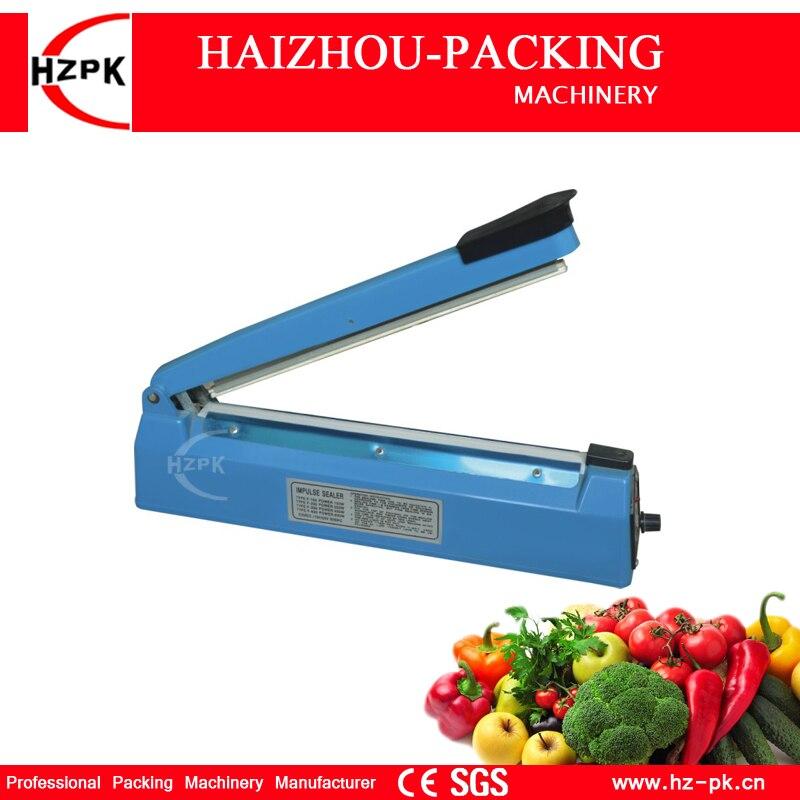 HZPK Hot Selling Simple Hand Pressure Heat Impulse Sealer Plastic Body Manual Sealing Machine For Fruit Saver 300mm PFS-300