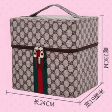 Cosmetic Bag Large Capacity Multi Layer Portable Retro Party Wash Storage Cute Travel Home Cosmetics Case Makeup Pack Make Up makeup pack cosmetics case professional storage large box partition portable 3 layer beauty tattoo kit cosmetic bag make up