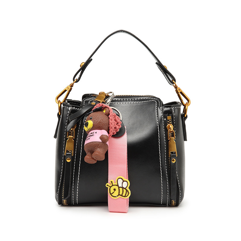 brand shoulder bag for women small handbag with bear decoration female crossbody bags mini bag bolsa feminina bolso mujer 2015 women s handbag mini jelly bag crystal bag one shoulder bag picture small handbag