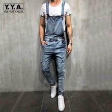 452fd2864823 Fashion Cowboy Mens Jeans Overalls Pants Hole Ripped Denim Rompers Slim Fit Pencil  Pants Plus Size