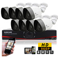 SUNCHAN 960P 8CH Day Night  8 Cameras Kit 960P Security Camera System 8CH 1080N Home Security System Surveillance Kit
