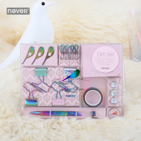 Never Fly Bird Series Gift Stationery Sets Binder Paper Clip Bookmarks Sticky Note Desk Decorative Accessories Office Supplies