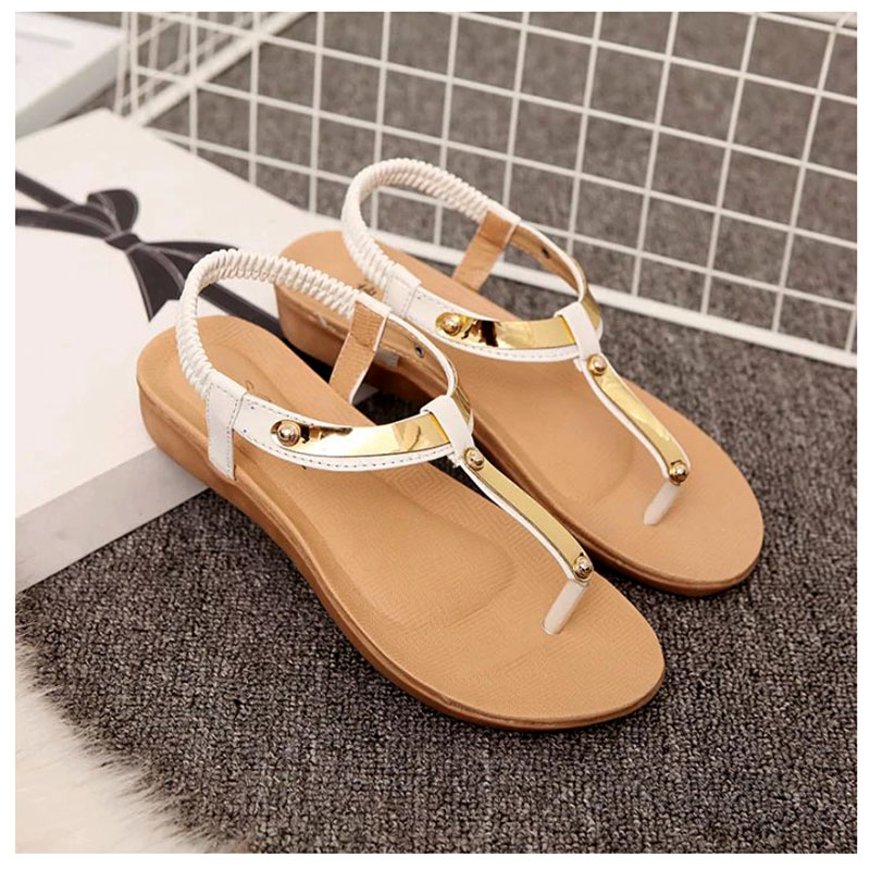 7349f036a Women Sandals Fashion Summer Shoes Women Flat Sandals Sequined Beautiful  Ladies Shoes Black -in Women s Sandals from Shoes on Aliexpress.com