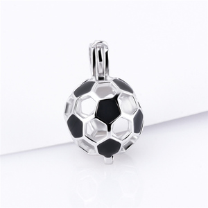 Image 2 - CLUCI 3pcs 925 Sterling Silver Soccer Ball Pendant Women Jewelry Gift Real Silver 925 Soccer Shaped Pearl Cage Locket SC373SB