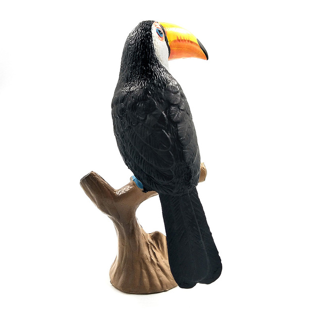 Colorful Toucan and Cockatoo Garden Figurine