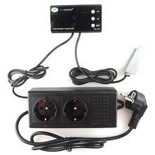 THC-220EU Цифровой Температуры И Влажности Контроллер Термостат Регулятор Влажности Управления ЖК-220В 10А для Зеленого Дома