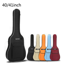 40/41 Inch Oxford Fabric Acoustic Guitar Gig Bag Soft Case Double Shoulder Straps Padded Guitar Waterproof Backpack with Pick