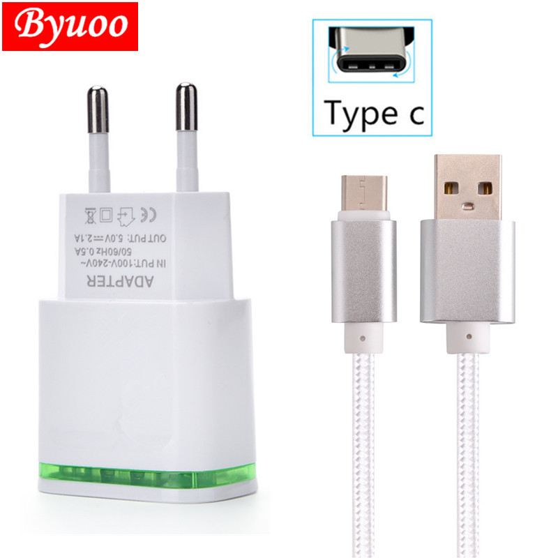 For samsung Galaxy s9 s8 a8 2018 huawei p20 honor 9 For Lenovo ZUK Z2 LG G6 V30 Q6 EU Wall 2 USB fast Charger Type C USB phone(China)