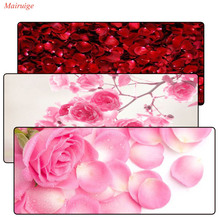 цена Mairuige Game Large Thicken Mouse Pad 900*400 MM Pink Flower Comfort Gaming Mat Mice Pad Computer Laptop White Lockedge MousePad онлайн в 2017 году