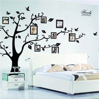 DIY Family Photo Frame Tree Wall Sticker Home Decor Living Room Bedroom Wall Decals Poster Home