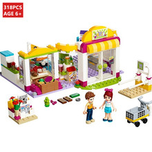 318Pcs City Heartlake Supermarket Building Blocks Sets Friends Model Emma Mia Educational Toys For Children