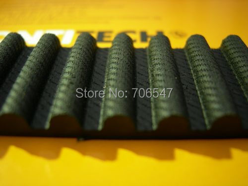 Free Shipping 1pcs  HTD1544-8M-30  teeth 193 width 30mm length 1544mm HTD8M 1544 8M 30 Arc teeth Industrial  Rubber timing belt
