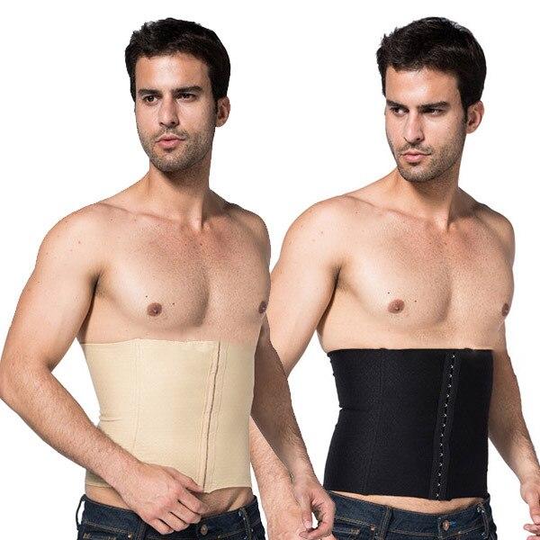 Mens Body Slimming Abdomen Waist Shaper Girdle Cincher Belt Burn Fat Corset Underwear Bodysuit New L4 HU5