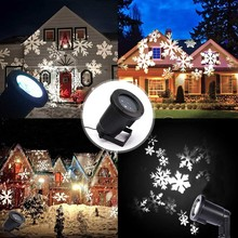 220V 110V White led snowflake garden lights outdoor spotlight lampara for lawn jardin waterproof Cast-Aluminum EU/US/AU Plug 12w white spotlight with die cast aluminum fixture