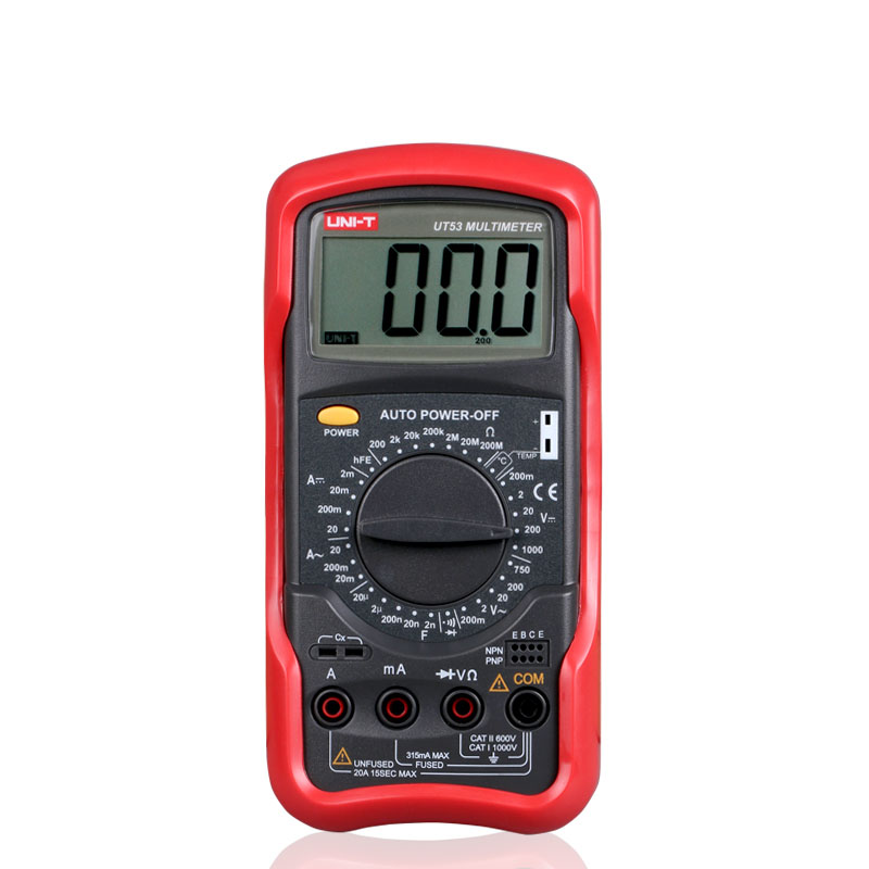 UNI-T UT53 digital multimeter resistance measurement diode/transistor test digital display AC/DC multimeter Ammeter FreeShipping  цены