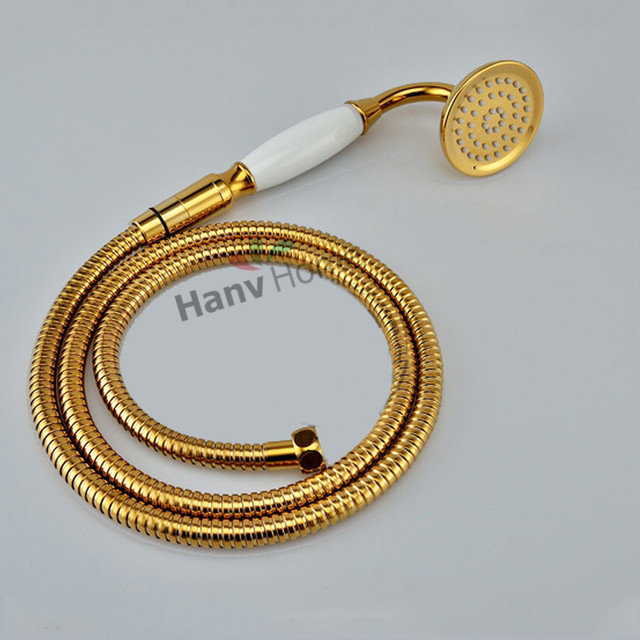 Handheld Shower Head Sets New PVD TI Classic Gold Finish ...