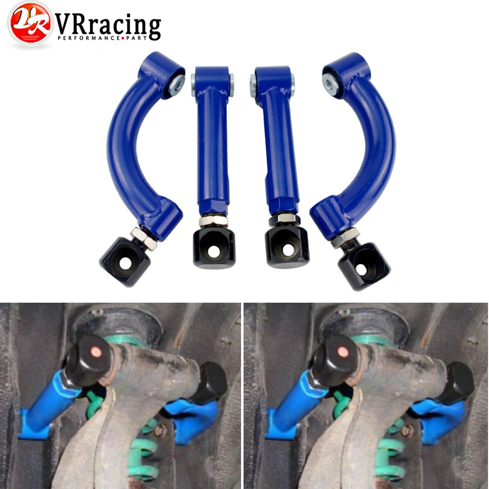 For 95-98 240Sx S14 S15 Silvia Jdm Pair Rear Upper Camber Kit Control Arm Blue