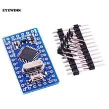 10 piezas Pro Mini atmega328 Mini módulo ATMEGA328P 5 V 16 MHz con pines de cristal del oscilador reemplazar ATMEGA128 para Arduino