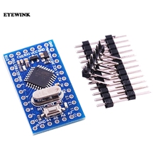 10 sztuk Pro Mini atmega328 Mini ATMEGA328P 5V 16MHz moduł z kryształowymi oscylatorami Pins wymienić ATMEGA128 dla Arduino