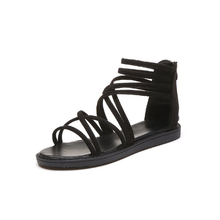New Fashionable Sexy Design Women Gladiator Sandals Women Summer Shoes Female Flat Sandals Rome Style Cross Sandals Shoes цены