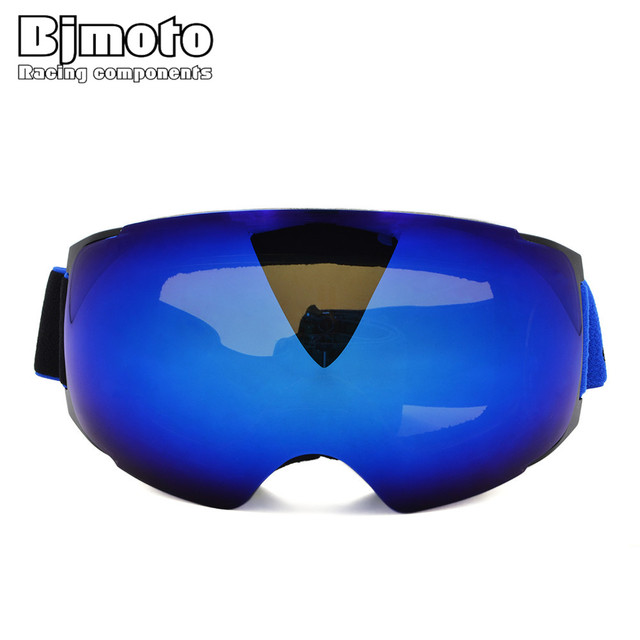 47caf164ed3 BJMOTO Unisex Ski Goggles Anti-fog Snowboard Glasses Wear Over RX Glasses  Switchable with Optional Cloudy Day Lens by Magnet