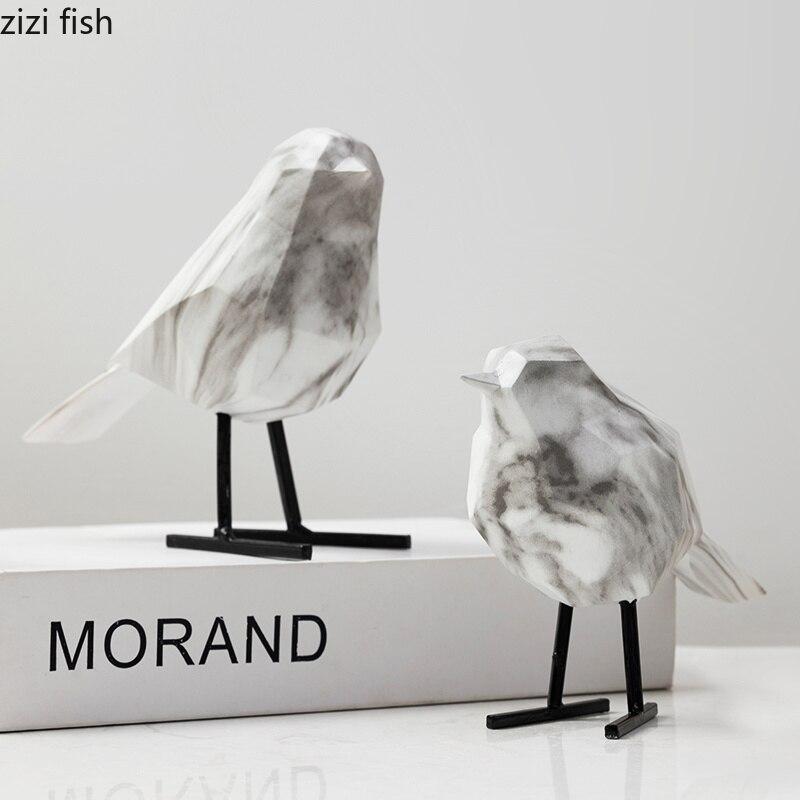 Marbre créatif oiseau décoration résine salon TV armoire vin refroidisseur bureau artisanat chambre décoration accessoires
