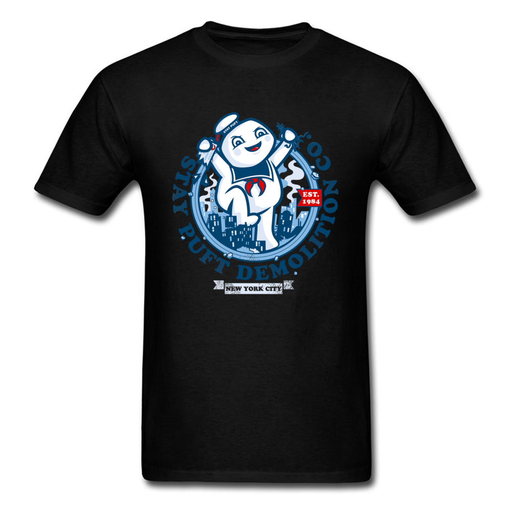 Free Shipping New York City Funny Cartoon Black T Shirt For Men Freedom Demoed Party Tshirt Anti-Pilling Cotton Summer T-Shirts