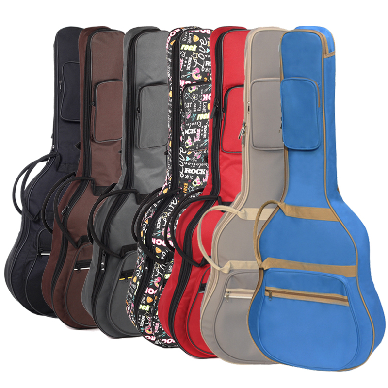 sale Professional portable 38 39 40 41inch acoustic guitar case folk balladry bass guitar gig bag soft backpack cover concerts free shipping 40inch folk guitar cover waterproof 41inch folk bag travel guitar case 41inch guitar bag folk shoulder strap bag