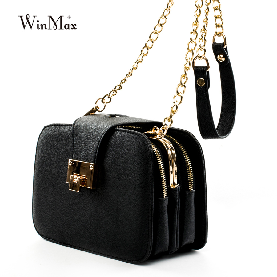 2017 Spring New Fashion Women Shoulder Bag Chain Strap Flap Designer Handbags Clutch Bag Messenger With Metal Buckle #09Sh31/9-2