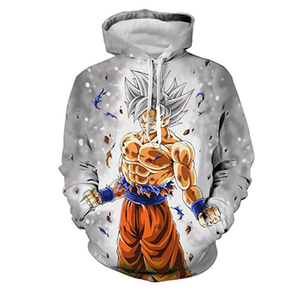 2019 Newest 3D Print Dragon Ball Sweatshirts Pullover Hoodies For Women/men Causal Loose Plus Size Sweatshirts Femme