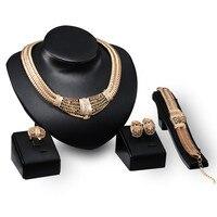 DIDNOT דפוס חלול גביש צבע זהב לוקסוס חם למכירה חרוזים אפריקאים חתונה נשים סטי תכשיטי כלה קופסא מתנה