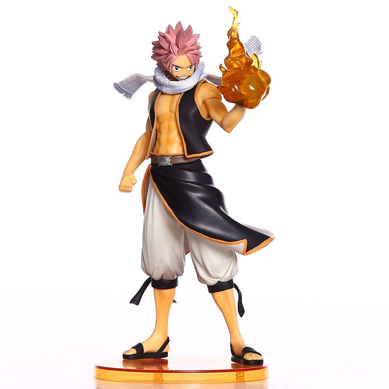 23cm Anime Fairy Tail Natsu PVC Figure Natsu Dragneel 1/7 Scale Painted Action Figure Collectible Model Toys Brinquedos With Box touhou project 1 7 scale painted figure light ver kirisame marisa doll pvc action figure collectible model toy 23cm