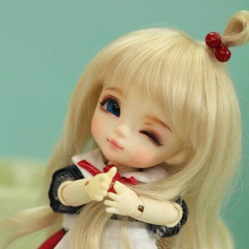 1/8 scale BJD about 15cm pop BJD/SD cute kid yellow luna Resin figure doll DIY Model Toy gift.Not included Clothes,shoes,wig