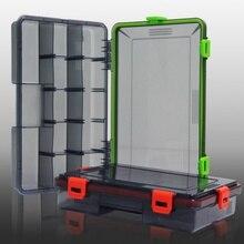 البلم متعددة المقصورات الصيد إغراء الملحقات مربع الطعم الصيد معالجة الحاويات البلاستيك تخزين حامل ساعة مربعة الشكل
