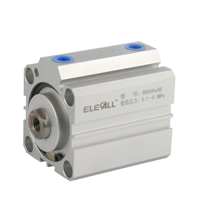 SDA50*15 / 50mm Bore 15mm Stroke Compact Air Cylinders Double Acting Pneumatic Air Cylinder compact air cylinders double acting pneumatic air cylinder sda32 25 32mm bore 25mm stroke