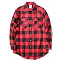 Anti Social Social Club ULZZANG Plaid Red Color Shirt Kanye ASSC Unisex Shirts