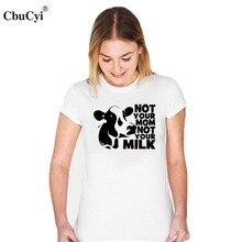 CbuCyi Animal Rights T Shirt Women Vegan Shirt Not Your Mom Not Your Milk Tee Shirt Anti Dairy Farm T-shirt Funny Graphic Slogan