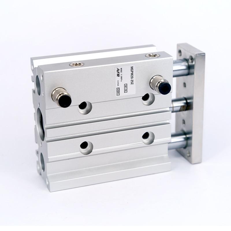 Купить с кэшбэком SMC Type MGPM12-25Z MGPM12-30Z Thin cylinder with rod Three axis three bar  Pneumatic components MGPL12-25Z MGPL12-30Z