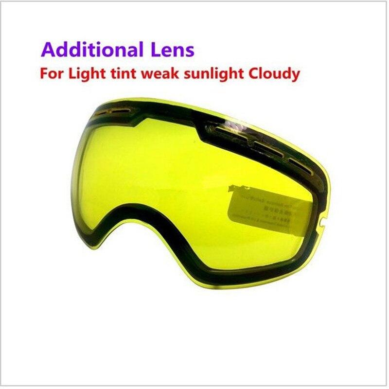 Prix pour Sport Marque profession snowboard lunettes double lentille grand sphérique Ski Lunettes de vision Nocturne Lunettes de ski lunettes objectif SNOW-3100