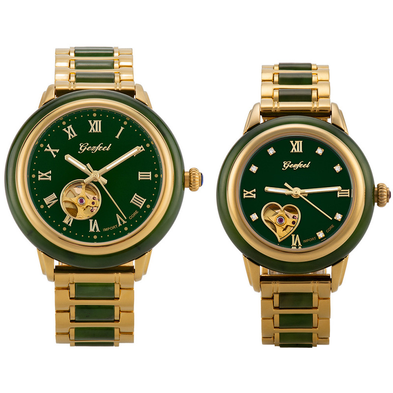 2020 Direct Selling Customize Wholesale Watches And Tian Jasper Craft Hollow Automatic Mechanical Supply One By