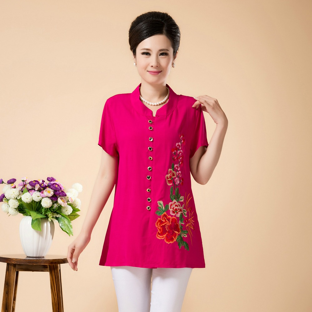 Online Buy Wholesale xxl embroidered blouses from China xxl ...