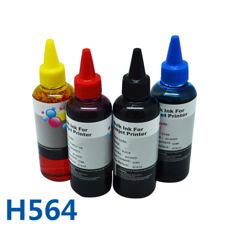 Hot Selling Specialized Dye Bottle Ink Refillable For HP Photosmart B8550/ B8500/C6324/C6340/C6350/ D5468/D7560/7520/5520
