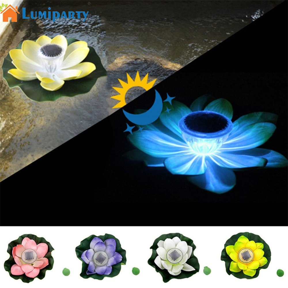 Solar powered swimming pool floating light solar floating light - Lumiparty Led Solar Power Light Floating Flower Lotus Waterproof Light As Swimming Pool Pond Garden Outdoor