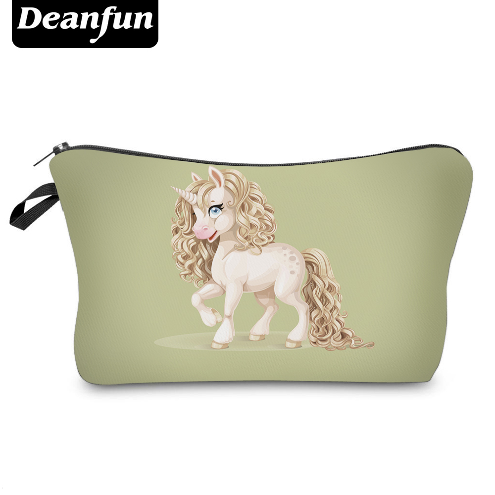 Deanfun Cosmetic Bags 3D Printing Unicorn  New Zipper Polyester Travel Organizer Storage Necessarys For Women Makeup 50763