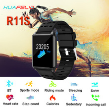 Novo Relógio Inteligente R11s Pulsometer Pedômetro Heart Rate Monitor de Pressão Arterial de Equitação Das Mulheres Dos Homens de Natação IP67 Rastreador Smartwatch