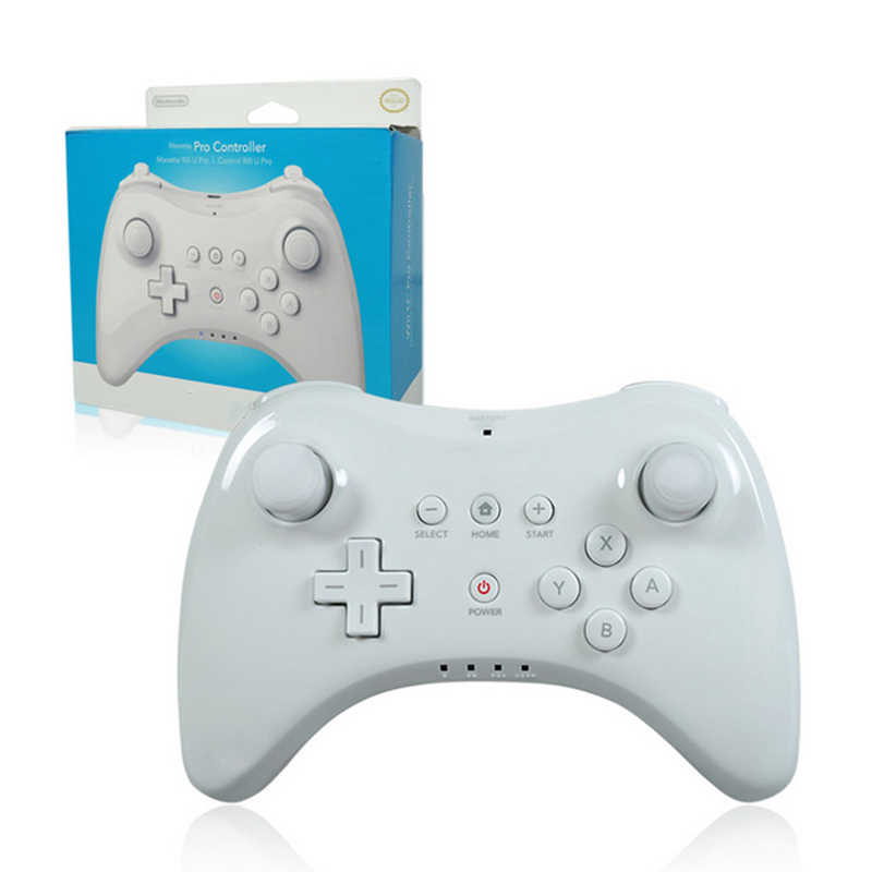 Беспроводной bluetooth геймпад для nintendo wii u pro игровой джойстик wiiu пульт дистанционного управления классический двойной Аналоговый joypad белый