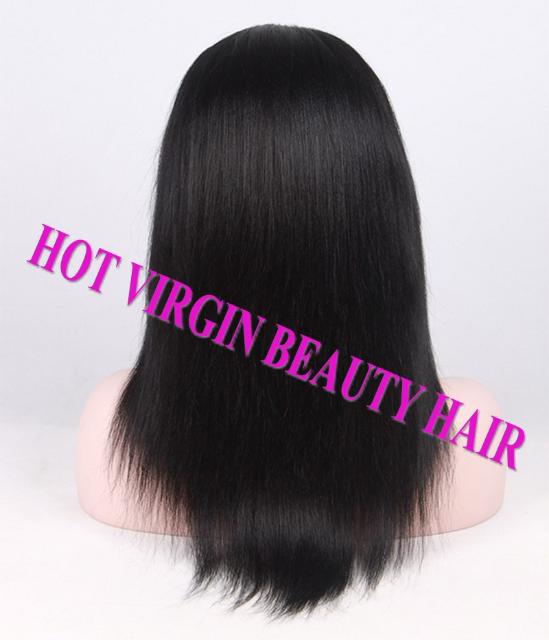 8A Brazilian Virgin Human Hair Lace Front Wig Glueless Full Lace Wig Straight With Baby Hair U Part Wigs DHL Free Shipping_conew1